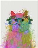 Rainbow Splash Cat 3, Portrait