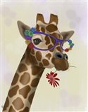 Giraffe and Flower Glasses 2