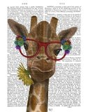 Giraffe and Flower Glasses 3