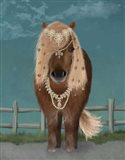 Horse Brown Pony with Bells, Full