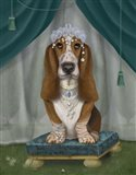 Basset Hound and Tiara