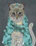 Grey Cat With Bells, Portrait