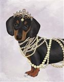 Dachshund and Tiara
