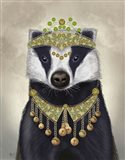 Badger with Tiara, Portrait