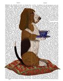 Basset Hound Taking Tea