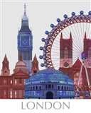 London Landmarks , Red Blue