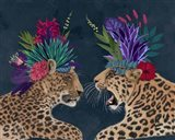 Hot House Leopards, Pair, Dark