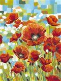Vivid Poppies I