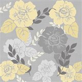 Yellow Roses on Grey I