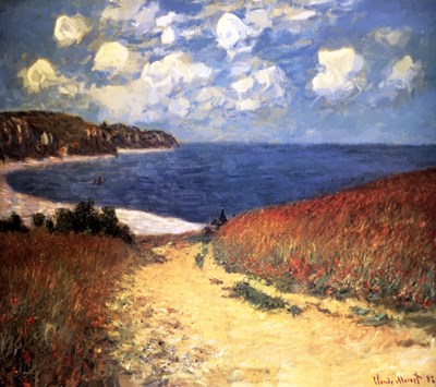 Meadow Rd. to Pourville Poster by Claude Monet for $68.75 CAD