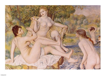 Bathers Poster by Pierre-Auguste Renoir for $26.25 CAD
