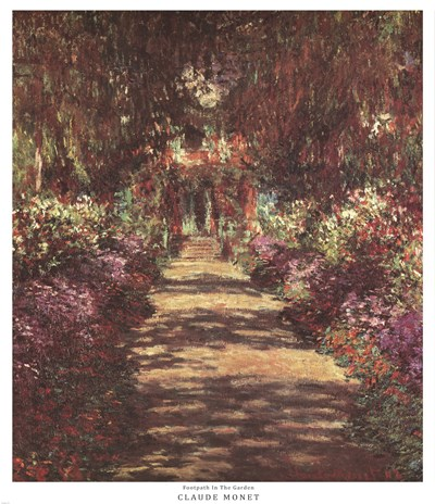 A Pathway in Monet's Garden at Giverny, c.1902 Poster by Claude Monet for $91.25 CAD