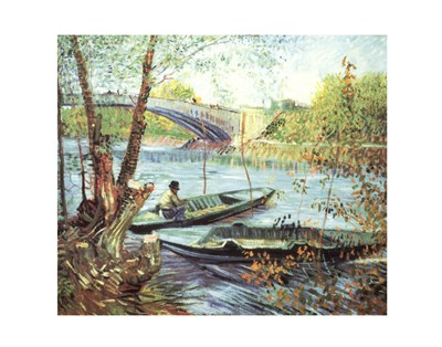 A Fisherman in His Boat Poster by Vincent Van Gogh for $36.25 CAD