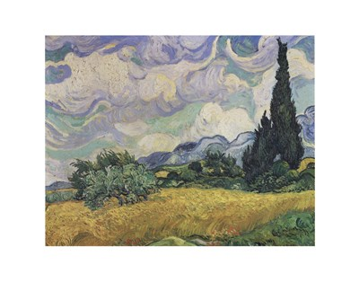 A Wheat Field with Cypresses, c.1889 Poster by Vincent Van Gogh for $36.25 CAD