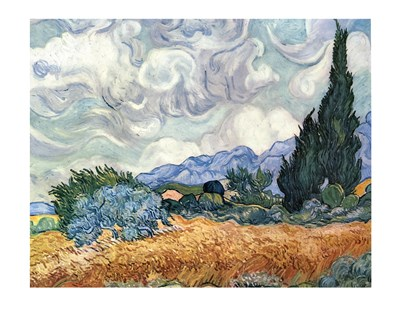 A Wheat Field with Cypresses, c.1889 Poster by Vincent Van Gogh for $78.75 CAD