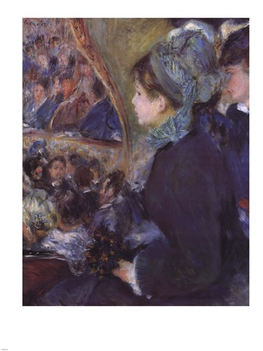 At the Theatre (La Premiere Sortie) Poster by Pierre-Auguste Renoir for $95.00 CAD
