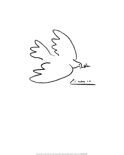 Dove of Peace Poster by Pablo Picasso for $32.50 CAD
