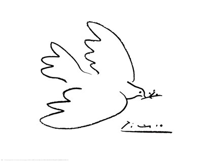 Dove of Peace Poster by Pablo Picasso for $91.25 CAD