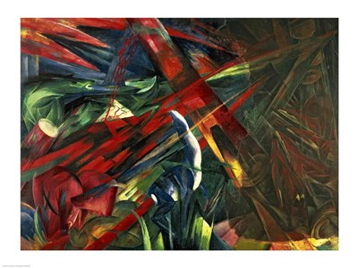 Fate of the Animals, 1913 Poster by Franz Marc for $32.50 CAD