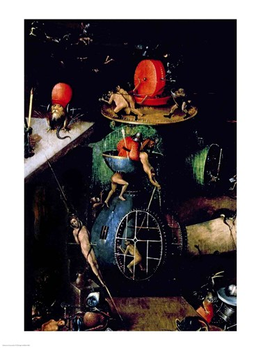 The Last Judgement (Altarpiece): Detail of an Urn Poster by Hieronymus Bosch for $32.50 CAD