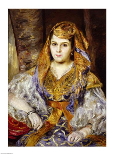 Algerian Woman, 1870 Poster by Pierre-Auguste Renoir for $32.50 CAD