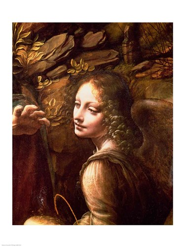 Detail of the Angel, from The Virgin of the Rocks Poster by Leonardo Da Vinci for $32.50 CAD