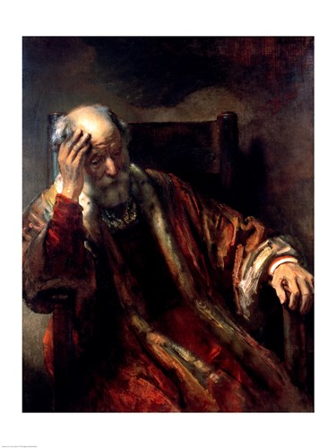 An Old Man in an Armchair Poster by Rembrandt van Rijn for $32.50 CAD