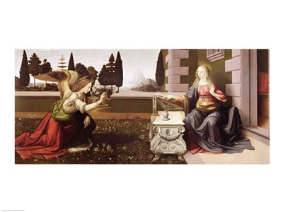 Annunciation, 1472-75 Poster by Leonardo Da Vinci for $32.50 CAD