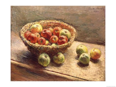 A Bowl of Apples, 1880 Poster by Claude Monet for $67.50 CAD