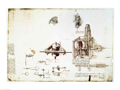 A Fin Spindle Poster by Leonardo Da Vinci for $67.50 CAD
