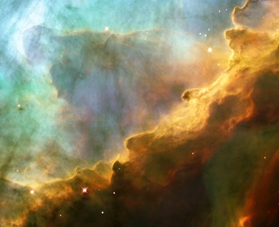 A Perfect Storm of Turbulent Gases in the Omega/Swan Nebula (M17) Poster by NASA, ESA, STScl for $38.75 CAD