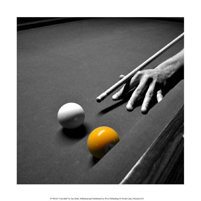 One Ball Poster by Jim Rush for $35.00 CAD