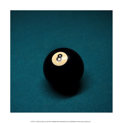 8 Ball on Blue Poster by Jim Rush for $35.00 CAD