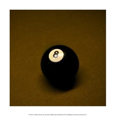 8 Ball on Brown Poster by Jim Rush for $35.00 CAD