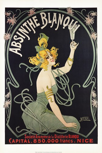 Absinthe Blanqui Poster by Unknown for $75.00 CAD