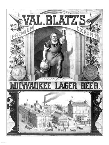 Val Blatt's Lager Beer Poster by Unknown for $67.50 CAD