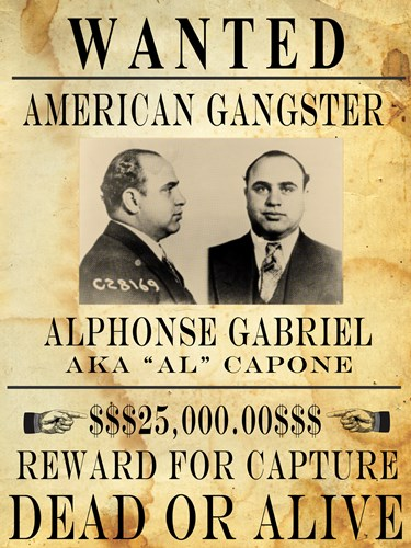 Al Capone Wanted Poster Poster by Unknown for $67.50 CAD