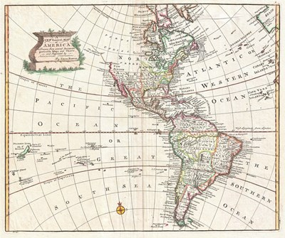 1747 Bowen Map of North America and South America Poster by Unknown for $33.75 CAD
