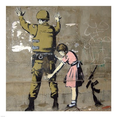Bethlehem Wall Graffiti Poster by Banksy for $63.75 CAD