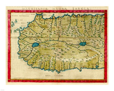 1561 Map of West Africa by Girolamo Ruscelli Poster by Unknown for $25.00 CAD