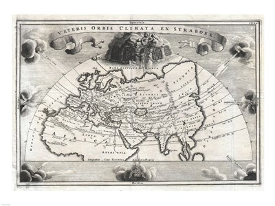1700 Cellarius Map of Asia, Europe and Africa Poster by Unknown for $67.50 CAD
