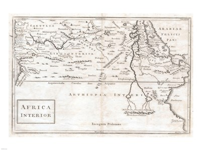 1730 Toms Map of Central Africa Poster by Unknown for $67.50 CAD