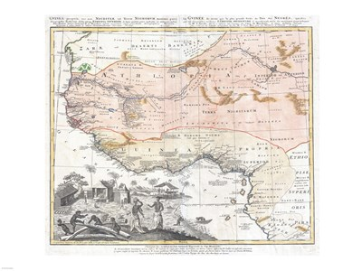 1743 Homann Heirs Map of West Africa Poster by Unknown for $67.50 CAD