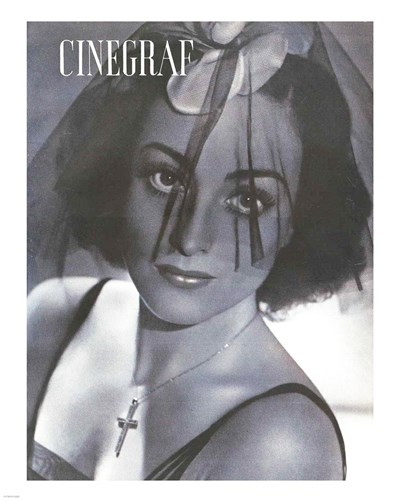 Joan Crawford CINEGRAF Magazine Poster by Unknown for $25.00 CAD