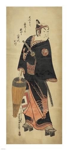 Samurai In Black Poster by Unknown for $50.00 CAD