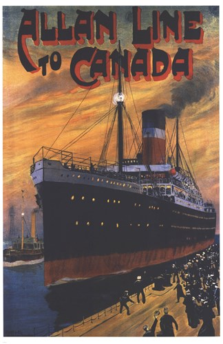 Allan Line To Canada Poster by Unknown for $103.75 CAD