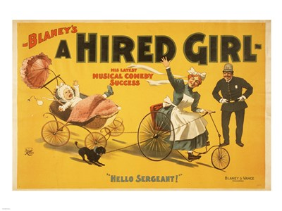 A Hired Girl Poster by Unknown for $67.50 CAD