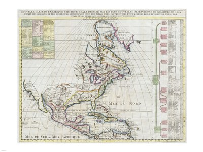 1720 Chatelain Map of North America Poster by Unknown for $67.50 CAD