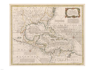 1720 Map of the West Indies Poster by Unknown for $67.50 CAD