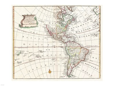 1747 Bowen Map of North America and South America Poster by Unknown for $67.50 CAD